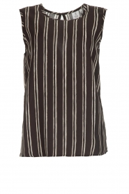 Knit-ted |  Striped top Grace | black  | Picture 1