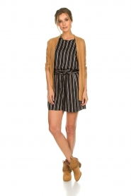 Knit-ted |  Striped top Grace | black  | Picture 3