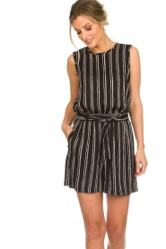 Knit-ted |  Striped top Grace | black  | Picture 2