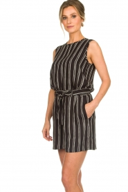 Knit-ted |  Striped top Grace | black  | Picture 5