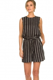 Knit-ted |  Striped top Grace | black  | Picture 4