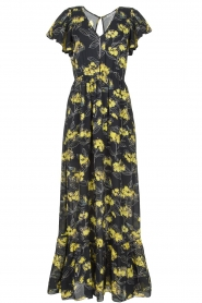 Patrizia Pepe |  Maxi floral dress Hailey | black   | Picture 1