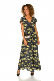 Patrizia Pepe |  Maxi floral dress Hailey | black   | Picture 3