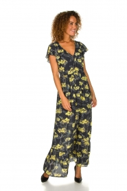 Patrizia Pepe |  Maxi floral dress Hailey | black   | Picture 2