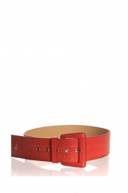 Patrizia Pepe | Leather belt Bianca | red  | Picture 1