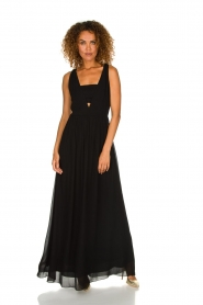 Patrizia Pepe | Maxi-dress Josephine | black  | Picture 2