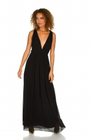 Patrizia Pepe | Maxi-dress Josephine | black  | Picture 8