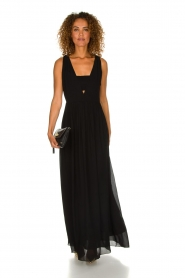 Patrizia Pepe | Maxi-dress Josephine | black  | Picture 3