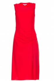 Patrizia Pepe |  Dress with drawstring Paulina | red  | Picture 1