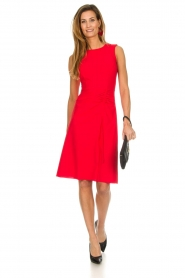 Patrizia Pepe |  Dress with drawstring Paulina | red  | Picture 5