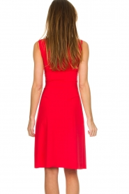Patrizia Pepe |  Dress with drawstring Paulina | red  | Picture 3