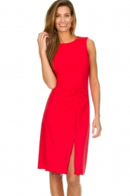 Patrizia Pepe |  Dress with drawstring Paulina | red  | Picture 4