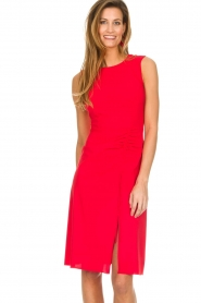 Patrizia Pepe |  Dress with drawstring Paulina | red  | Picture 2