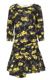 Patrizia Pepe |  Floral dress Bonnie | black  | Picture 1