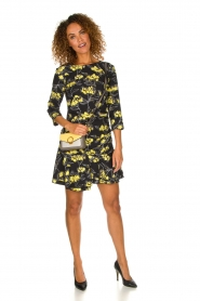 Patrizia Pepe |  Floral dress Bonnie | black  | Picture 3