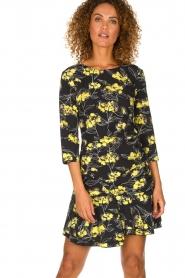 Patrizia Pepe |  Floral dress Bonnie | black  | Picture 2