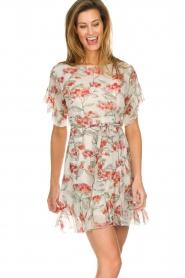 Patrizia Pepe |  Floral dress Chiara | white  | Picture 4
