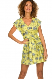 Patrizia Pepe |  Floral dress Kalis | yellow  | Picture 2