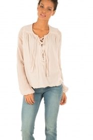 Hunkydory | Lace-up top Monte | nude  | Afbeelding 2
