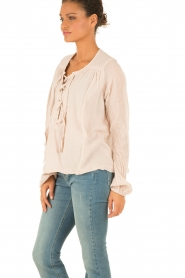 Hunkydory | Lace-up top Monte | nude  | Afbeelding 4