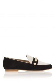 Suede loafers Pistou | zwartwit