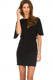 Patrizia Pepe |  Dress with open back Noe | black  | Picture 2