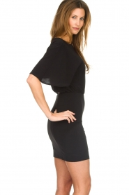 Patrizia Pepe |  Dress with open back Noe | black  | Picture 5