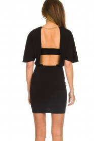 Patrizia Pepe |  Dress with open back Noe | black  | Picture 6