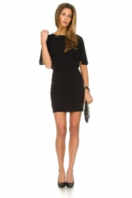 Patrizia Pepe |  Dress with open back Noe | black  | Picture 3