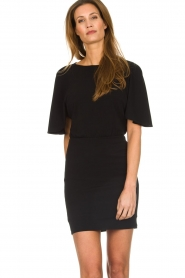 Patrizia Pepe |  Dress with open back Noe | black  | Picture 4