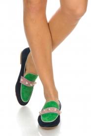 Essentiel Antwerp | Suede loafers Pistou | groen  | Afbeelding 2