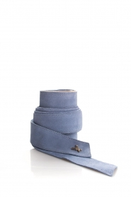 Patrizia Pepe | Suède tailleriem Monica | blauw  | Afbeelding 1