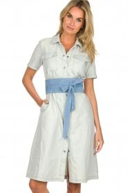 Patrizia Pepe |  Suede waist belt Monia | blue  | Picture 2