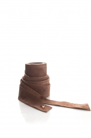 Patrizia Pepe |  Suede waist belt Monica | brown