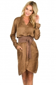 Patrizia Pepe |  Suede waist belt Monica | brown  | Picture 2