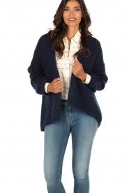 Aaiko | Gebreid vest Dylene | blauw  | Afbeelding 2