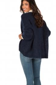 Aaiko | Gebreid vest Dylene | blauw  | Afbeelding 5