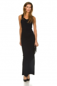 Patrizia Pepe |  Maxi dress Cristina | black  | Picture 2