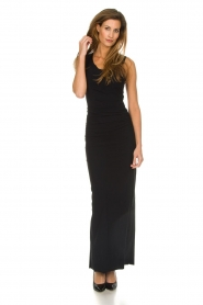 Patrizia Pepe |  Maxi dress Cristina | black  | Picture 3