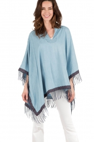 Denim poncho Dimas | blue