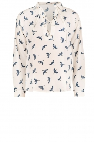 Aaiko | Blouse Wyona Bird | wit