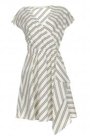 Patrizia Pepe | Gestreepte jurk Mimi | wit  | Afbeelding 1