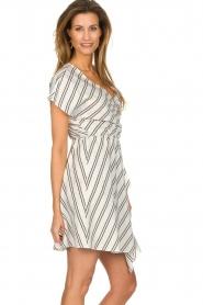 Patrizia Pepe |  Striped dress Mimi | white  | Picture 4