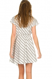 Patrizia Pepe | Gestreepte jurk Mimi | wit  | Afbeelding 5