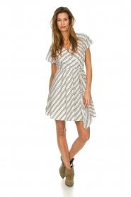 Patrizia Pepe |  Striped dress Mimi | white  | Picture 3