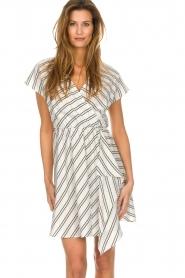Patrizia Pepe |  Striped dress Mimi | white  | Picture 2