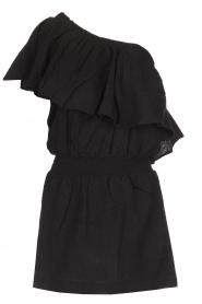 Rough Studios | One-shoulder jurk Foxi | zwart  | Afbeelding 1