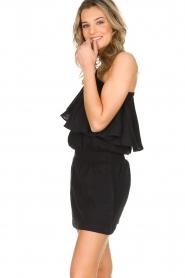 Rough Studios | One-shoulder jurk Foxi | zwart  | Afbeelding 4