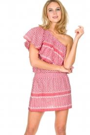 Rough Studios | One-shoulder jurk Foxi | rood  | Afbeelding 2