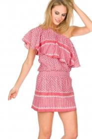 Rough Studios | One-shoulder jurk Foxi | rood  | Afbeelding 5